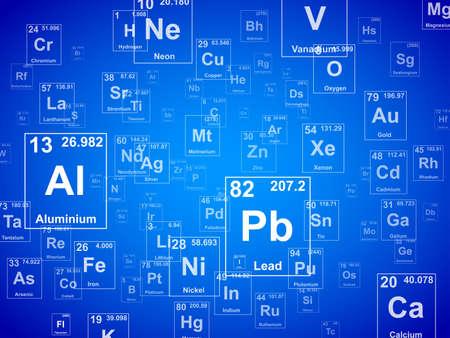 Illustration pour Periodic table of the elements. Background illustration  - image libre de droit