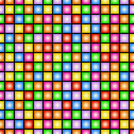 Illustration pour Funky colorful tileable 80s style vector wallpaper that repeats left, right, up and down - image libre de droit