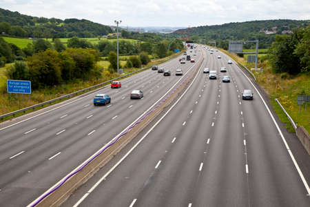 Photo for M1 four lane smart motorway in West Yorkshire  - Royalty Free Image