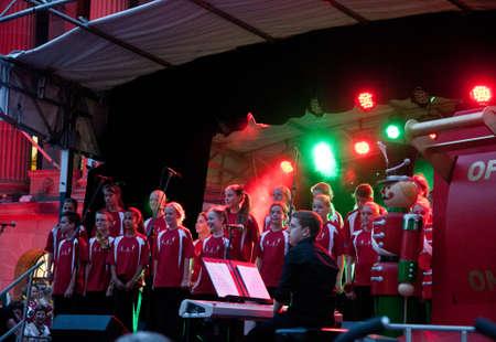 Kids singers sang in Brisbane Lightning up Christmas tree festival at city hall