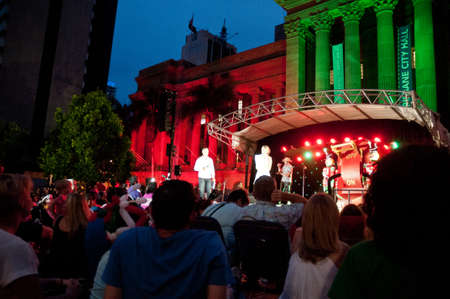 Concert at city hall in Lightning up Christmas tree festival in Brisbane