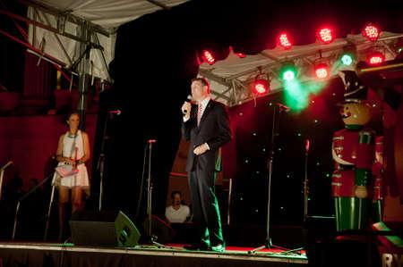 Lord Graham Brisbane Mayor in Lightning up Christmas tree festival