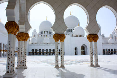 Sheikh Zayed Grand Mosque in mural