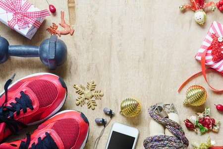 Photo for Working Out Merry Christmas concept. - Royalty Free Image
