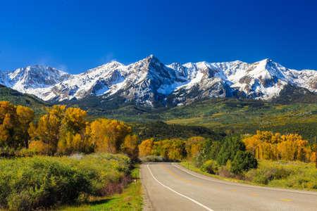Countryside road, fall season in Colorado