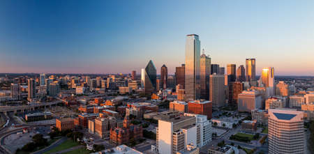 Photo for Dallas, Texas cityscape with blue sky at sunset, Texas - Royalty Free Image
