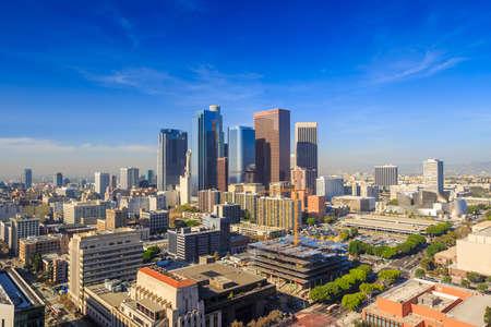 Foto de Downtown LA Los Angeles skyline cityscape California - Imagen libre de derechos