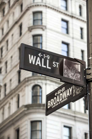 Photo for Wall street sign in New York City - Royalty Free Image
