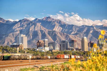 Photo for Downtown Salt Lake City skyline Utah in USA - Royalty Free Image