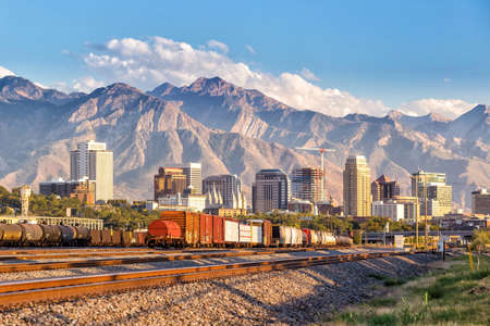 Photo pour Downtown Salt Lake City skyline Utah in USA - image libre de droit