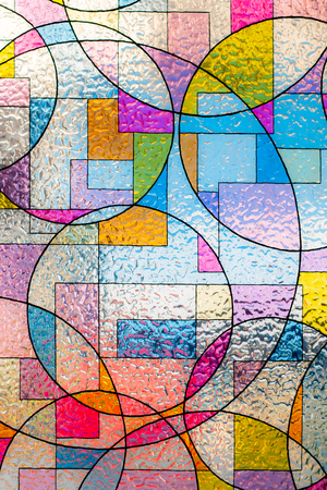 Photo pour stained colorful christ glass . abstract multicolor - image libre de droit
