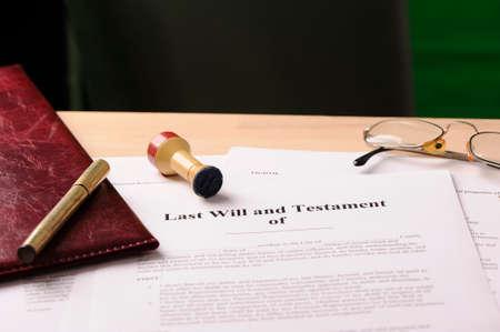 Foto de Last will and testament - Imagen libre de derechos