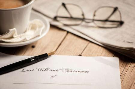 Foto de Last will testament - Imagen libre de derechos