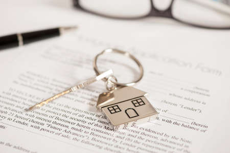 Photo for mortgage agreement - Royalty Free Image