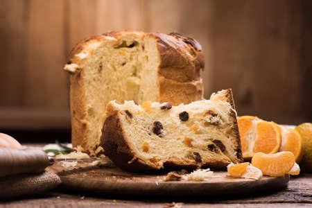 Photo for Italian Christmas cake. Home made Panettone - Royalty Free Image
