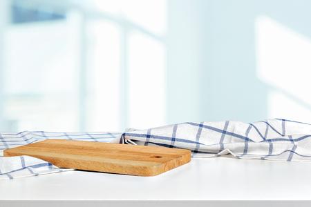 Foto de table covered with tablecloth. - Imagen libre de derechos