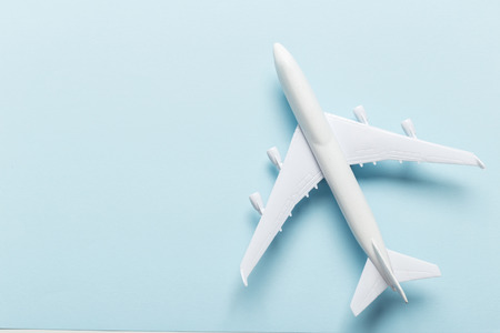 Photo pour Miniature airplane travel theme - image libre de droit