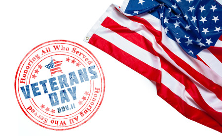 Photo pour composite of veterans day flag - image libre de droit