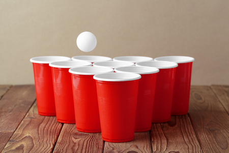 Photo for College party sport - beer pong - Royalty Free Image