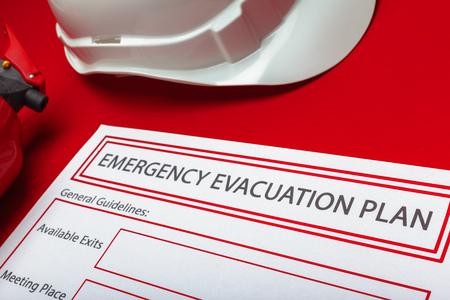 Foto de Emergency evacuation plan - Imagen libre de derechos