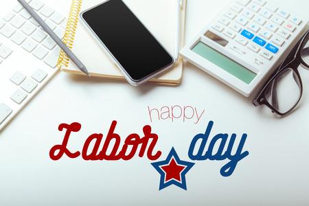 Photo pour Labor day composition. - image libre de droit