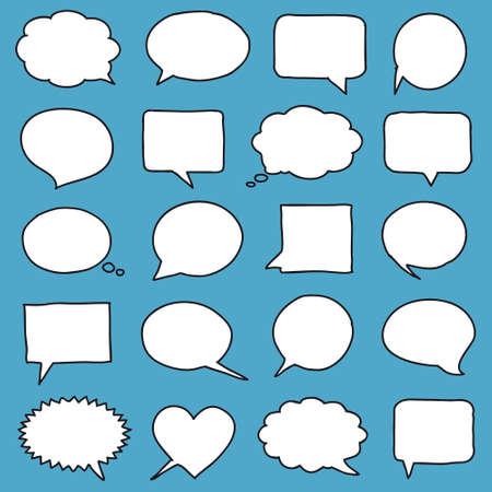 Illustration pour Hand-drawn speech bubbles - image libre de droit
