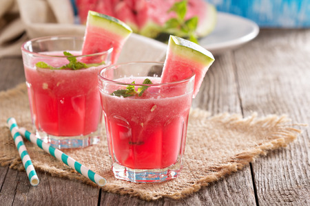 Photo for Watermelon drink in glasses - Royalty Free Image