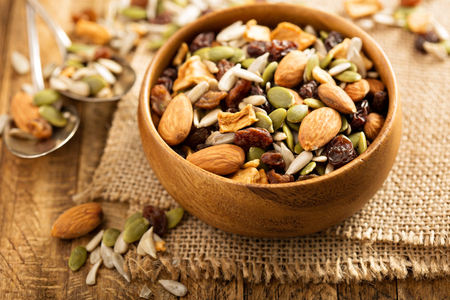 Photo for Dried fruit and nuts trail mix - Royalty Free Image