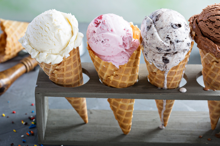 Photo for Variety of ice cream cones - Royalty Free Image