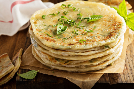 Photo for Fried green onion pancakes - Royalty Free Image