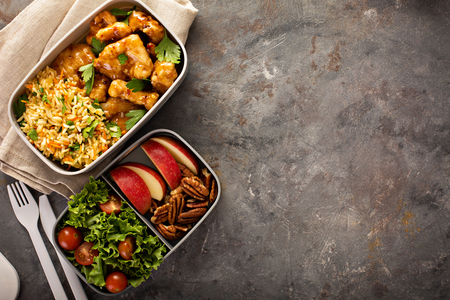 Photo for Lunch boxes with food ready to go - Royalty Free Image