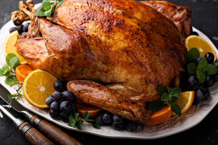 Photo for Festive celebration roasted turkey for Thanksgiving - Royalty Free Image