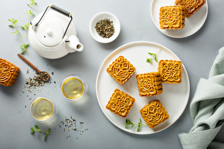 Photo for Traditional Chinese mooncakes - Royalty Free Image
