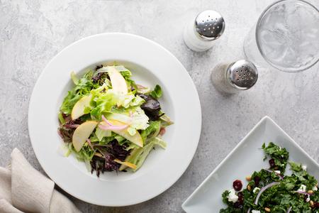 Photo pour Fall salad and appetizer table - image libre de droit