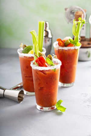 Photo for Bloody mary cocktails for brunch - Royalty Free Image