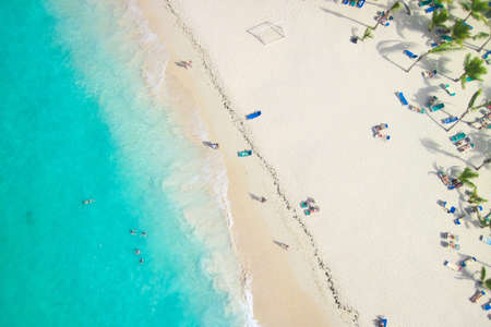 Photo for View of a tropical beach from above  - Royalty Free Image