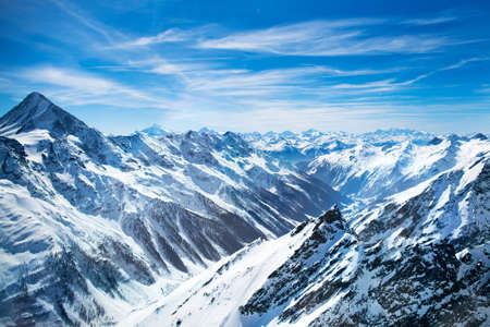 Photo for Aerial view of the Alps mountains in Switzerland. View from helicopter in Swiss Alps. - Royalty Free Image