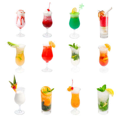 collection Alcoholic cocktails