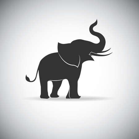 Illustration pour silhouette elephants - image libre de droit