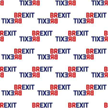 Illustration pour Brexit Concept Sign Text Isolated. United Kingdom Exit From Europe relative image. Brexit Politic Process. Referendum Theme Seamless Pattern - image libre de droit