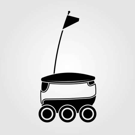 Illustration for Delivery Robot icon isolated on white background. Vector illustration. - Royalty Free Image