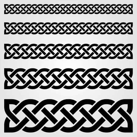 Ilustración de Celtic style border isolated on white background. Vector illustration - Imagen libre de derechos