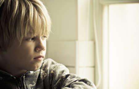 A sad lonely boy