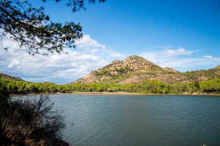 Photo pour the beautiful lake of bidderosa in sardinia - image libre de droit