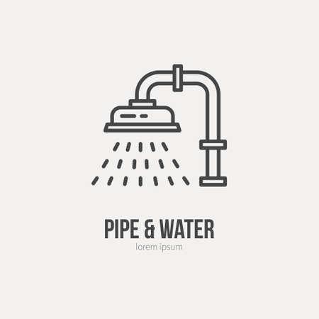Illustration pour Modern line style logo for repair company or plumbing service. Vector line icon series. - image libre de droit