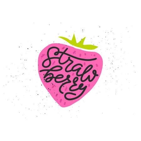 Illustration pour Colorful vector icon of strawberry. - image libre de droit