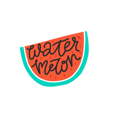 Illustration pour Colorful vector icon of watermelon. Vegetarian and vegan food in isolated modern design. - image libre de droit