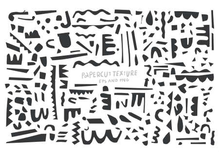 Illustration for Abstract paper cut vector elements for your backdrop. - Royalty Free Image