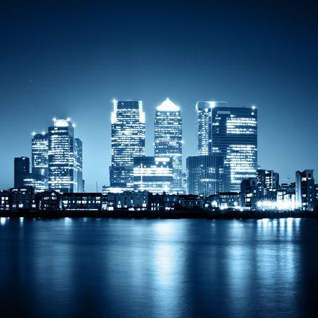 Foto de  Canary Wharf view from Greenwich.  - Imagen libre de derechos
