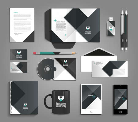 Illustration pour Classic and professional stationery template design for your company - image libre de droit